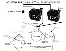 need wiring diagram to convert 24v starter generator to 12v