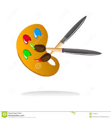 Painting Icon Painter Drawing And Painting Icons Royalty Free Stock Photography