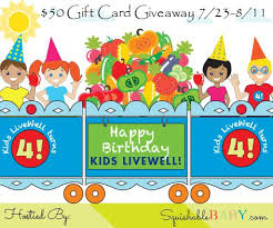 gift cards for kids the kids live well 50 gift card giveaway