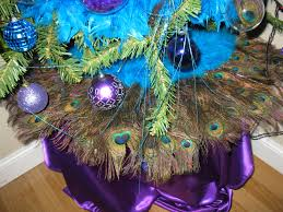 Peacock Decorations by What You Make It Peacock Themed Christmas Tree