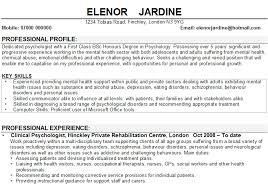 psychology resume template psychology cv matthewgates co