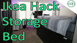 diy ikea hack super storage bed youtube