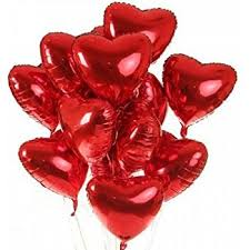 valentines ballons pixnor 10pcs heart foil helium balloons for