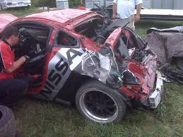 nissan 350z roll cage crash at mid ohio scca t2 nissan lotustalk the lotus cars