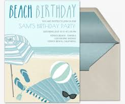 free birthday milestone invitations evite com free online beach party invitations evite