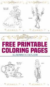 free printables beauty beast coloring pages mommy