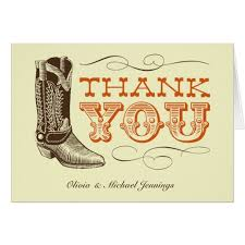 western wedding thank you cards zazzle