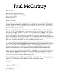 zoo writing paper paul mccartney letter to president aquino july 2013 paul donate now