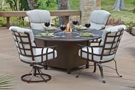 Fire Patio Table by Woodard 48