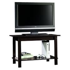 Wooden Tv Stands And Furniture Amazon Com Sauder Beginnings Tv Stand Cinnamon Cherry Kitchen