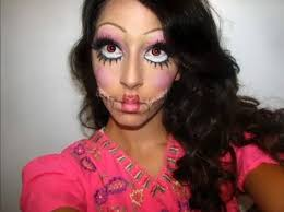 creepy doll costume create creepy patchwork doll makeup look for