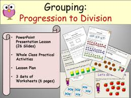 division grouping presentation lesson plan and worksheets by
