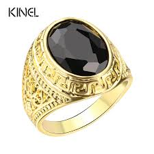 aliexpress com buy mens rings color gold black ring for men
