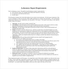 report requirements template lab report template 26 free word pdf document free premium
