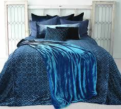 casablanca colbalt black velvet duvet by kevin o u0027brien studio
