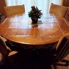 clear vinyl table protector home decor deluxe collection clear heavy duty tablecloth protector