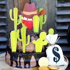 cowboy cake topper cowboy birthday cake toppers cowboy and cactus party decor