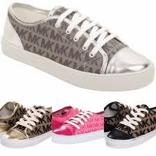 new kids girls michael kors mmk logo lace sneaker black silver