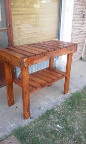kitchen table made from pallets of and pallet island or end
