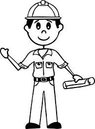 illustration of an african american stick figure hard working man