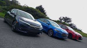 nissan civic 2016 rivals honda civic vs hyundai elantra vs toyota corolla roadshow