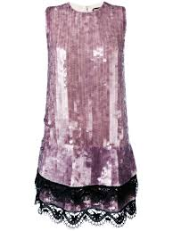 tom ford sequined shift dress designer colour purple rifpszq