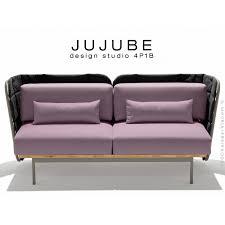 assise canape canapé d extérieur jujube canapé structure acier dossier et assise