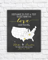 Bridal Shower Signs Personalized Wedding Map Gift For Couples 8x10 Art Print