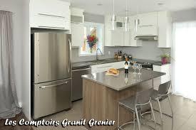 comptoir de cuisine quartz blanc comptoir de granit et quartz réalisations de cuisines et vanités