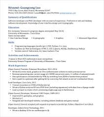 Php Programmer Resume Sample by Objective C Resume App