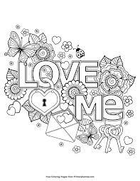 valentine u0027s coloring love free printable free