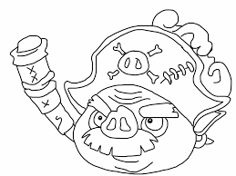 angry birds epic coloring page pirate pig my free coloring