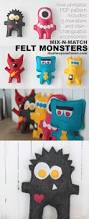 monster list of halloween projects free easy sewing pattern for felt monster dolls