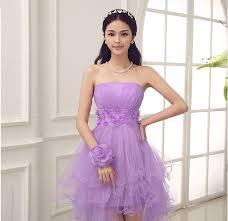 aliexpress com buy purple bridesmaid dress strapless pleated