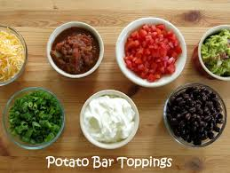 toppings bar crock pot baked potatoes and 20 topping ideas the dinner mom