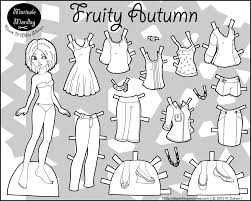 printable paper dolls marisole monday fruity autumn paper thin personas