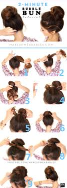 hairstyles jora tutorial 2 minute bubble bun hairstyle easy second day hair