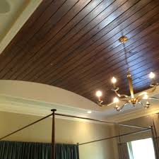 tongue and groove wood flooring in trey ceiling cool home