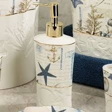 Seashell Bathroom Decor Ideas by Antigua Ceramic Coastal Bath Accessories Coastal Bathroom