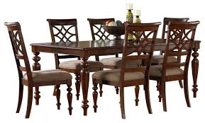 standard furniture woodmont 7 leg dining room set in cherry