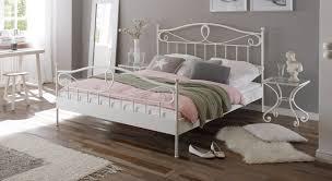 Schlafzimmer Farbe Gr Mediterranes Metallbett In Anthrazit Oder Weiß Piemonte