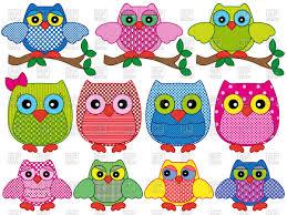 ornamental owls vector clipart image 66813 rfclipart