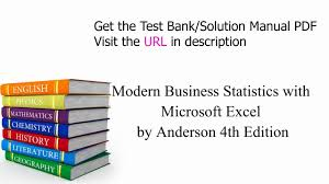 practice test bank for modern business statistics with microsoft
