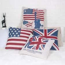 British Flag Bedding Uk Usa Flag 45x45cm Pillowcase American British London Pillow Case