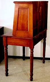 Tall Writing Desk by C 1870 Walnut Plantation Desk With Paneled Ends It Is Two Piece