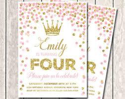 princess invitation etsy