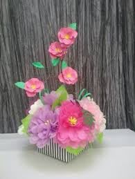 paper flower arrangement perfect for by sweetpeapaperflowers