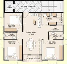 2bhk House Design Plans Floor Plan Floor Plan 2 Bhk East Facing 1105 Sq Fts Service