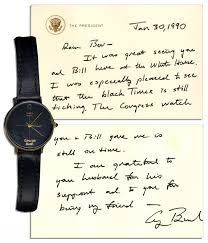 Personally Lot Detail George H W Bush Custom Made Personally Owned Watch