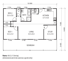 Two Bedroom Granny Flat Floor Plans Steel Kit Homes Sarwood Timbers